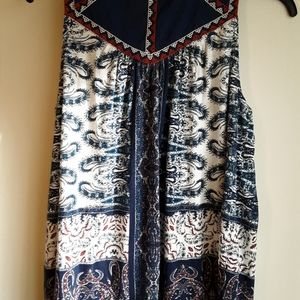 Lucky Brand Front Tie Tank Top Size 1X